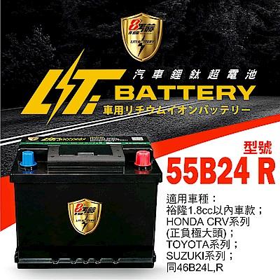 日本KOTSURU-8馬赫鋰鈦汽車啟動電瓶 55B24 R / 46Ah