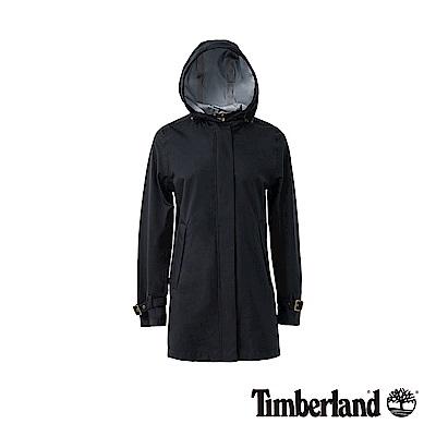 Timberland 女款黑色Water Resistant 連帽風衣外套|B2104