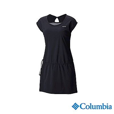 Columbia 哥倫比亞 女款-快排長版無袖上衣-黑色 UEL00310BK