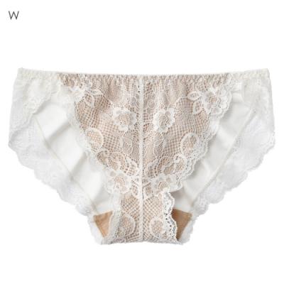 aimerfeel 花卉蕾絲雅致素色內褲-白色-177121-W