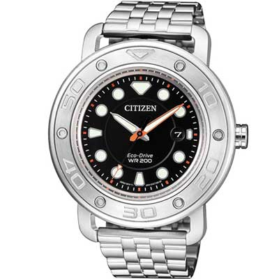CITIZEN 星辰 限量套錶 200米防水運動錶 AW1531-89E 黑/41mm @ Y!購物