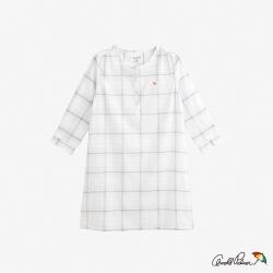 Arnold Palmer-女裝-格紋無領七分袖長襯衫