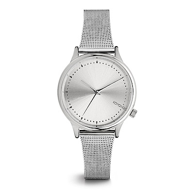 KOMONO Estelle Royale 腕錶-太空銀/36mm