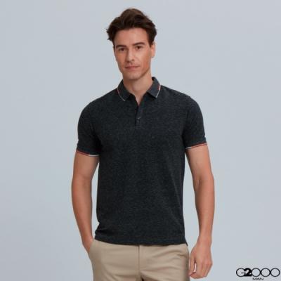 G2000素面網眼短袖polo衫-深灰色
