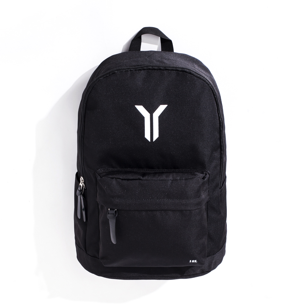 Y.A.S 街頭潮流實用後背包-Y字款黑