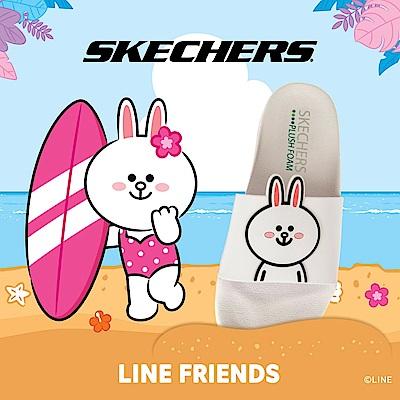 SKECHERS 女休閒系列 涼拖 2ND TAKE LINE FRIENDS 兔兔限定款 - 31644WHT