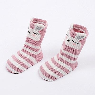 Baby unicorn 動物條紋防滑嬰兒短襪