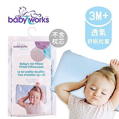 BabyWorks 加拿大 嬰兒枕頭套-藍色 (3個月以上)