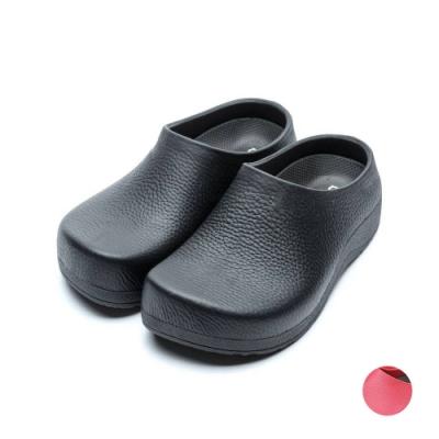 ARRIBA艾樂跑男女鞋-防水廚師鞋 懶人鞋-黑/紅(61466)