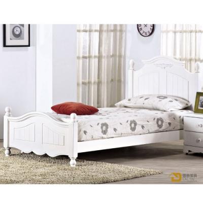 D&T 德泰傢俱 Martha白色3.5尺床台 寬107×深203×高106cm