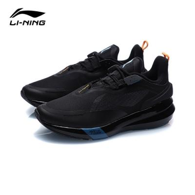 LI-NING 李寧 星耀SHIELD減震系列慢跑鞋 標準黑/螢光蜜橙 男款(ARHQ129-3)