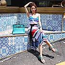 DABI 韓系吊帶背心針織性感修身無袖洋裝