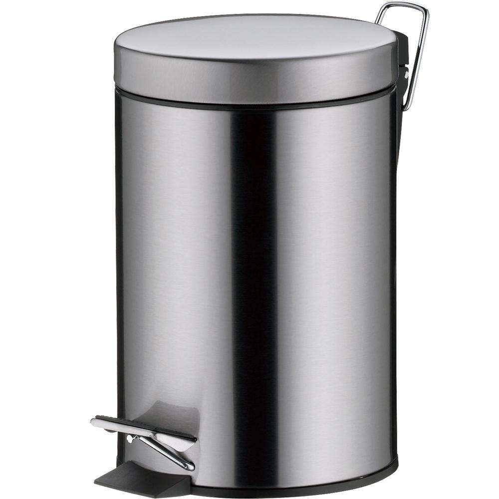 《KELA》Impronta腳踏式垃圾桶(霧銀3L)