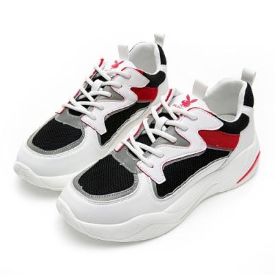PLAYBOY Superior兔兔老爹鞋-白-Y582611