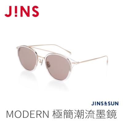 JINS&SUN MODERN 極簡潮流墨鏡(AURF21S123)透明金