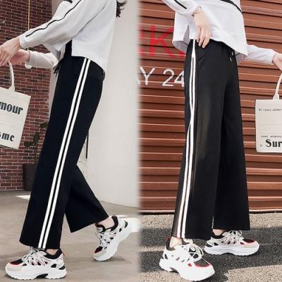 【韓國K.W.】(預購)優雅休閒時尚感運動寬褲-2色