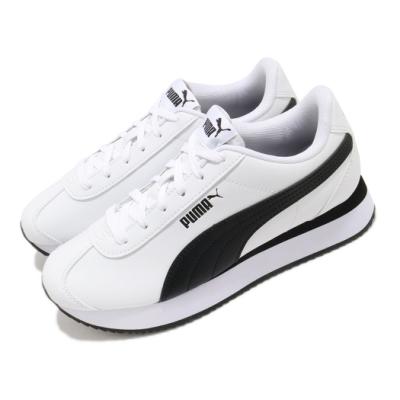 Puma 休閒鞋 Turino Stacked 運動 女鞋 基本款 舒適 簡約 皮革 質感 穿搭 白 黑 37111508