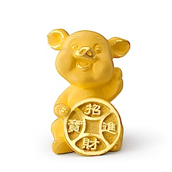 MANSTYLE 招財豬 黃金擺件 (約1.80錢)
