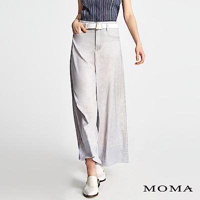 MOMA 牛仔拼接個性寬褲