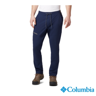 Columbia 哥倫比亞 男款- 防潑長褲 -深藍 UAE02060NY