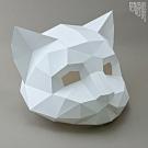 問創設計 DIY手作3D紙模型 頭套 面具系列 - 貓咪面具 (幼幼款)