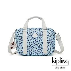 Kipling 典雅淡藍小花手提側背包-CASKA