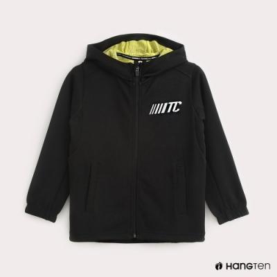 Hang Ten-ThermoContro-童裝機能純色連帽外套-黑