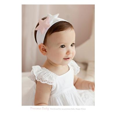 Baby童衣 寶寶髮帶 星星棉布髮飾 新生兒髮圈 88765