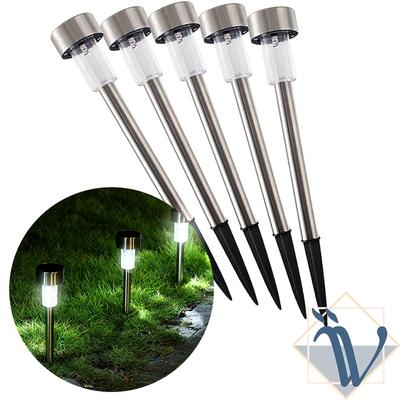 Viita 戶外露營庭院自動照明太陽能感應燈/插地燈/草坪燈 5入