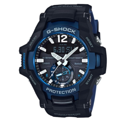 G-SHOCK 飛機儀表板概念設計太陽能藍芽休閒錶(GR-B100系列)多色任選
