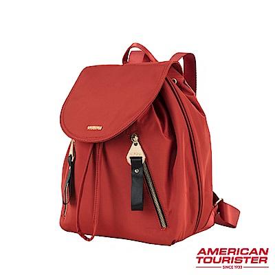 AT美國旅行者 Alizee IV輕量束口抽繩後背包(紅)