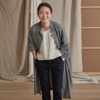 旅途原品_風的季節_原創設計亞麻色織格紋外套- 花色