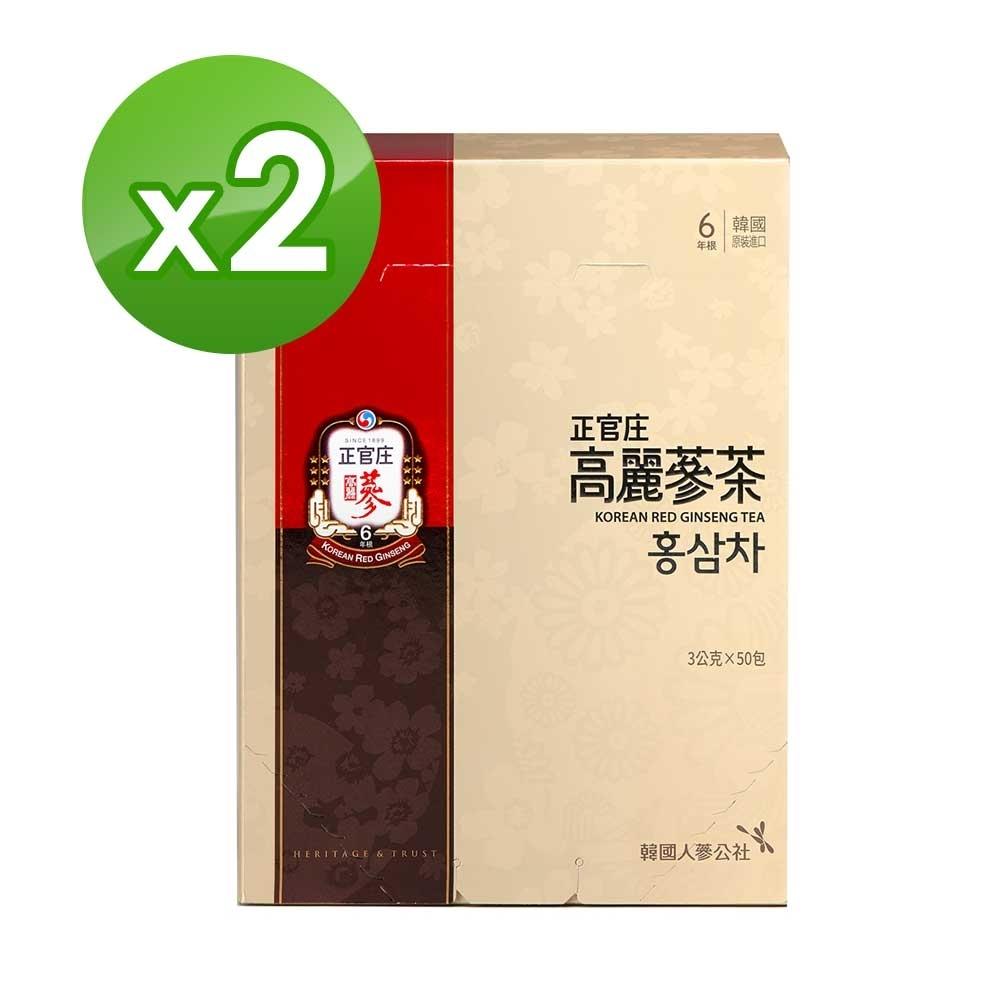 (時時樂)正官庄 高麗蔘茶(50包/盒)X2盒