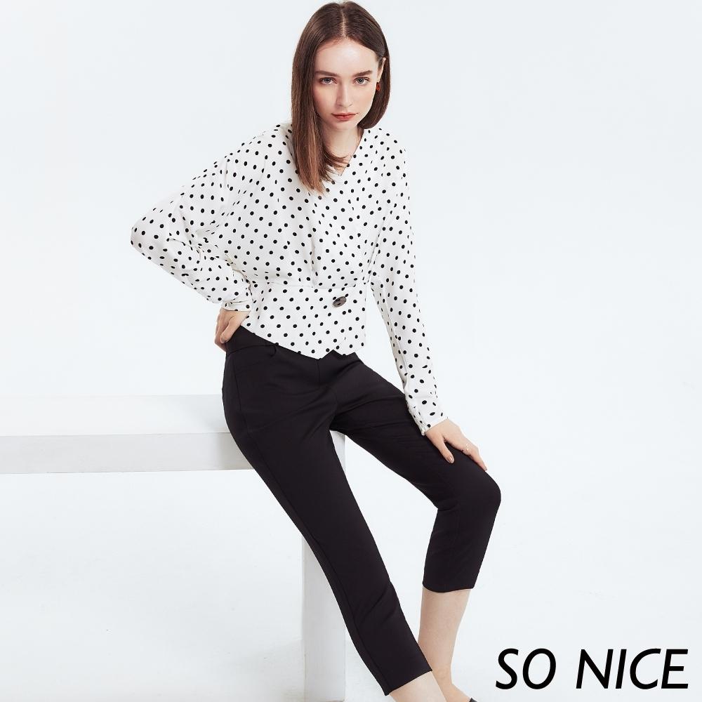 SO NICE都會修身錦棉褲 product image 1