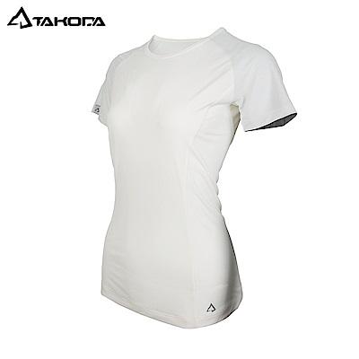 TAKODA女款-速乾排汗輕盈抗菌機能衣(純米白)