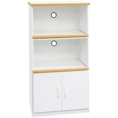 文創集 森活環保白2.2尺塑鋼二門二格高餐櫃/收納櫃-66x43x124cm免組