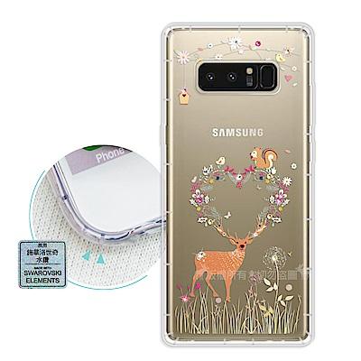 EVO Samsung Galaxy Note 8 異國風情 水鑽空壓手機殼(小...