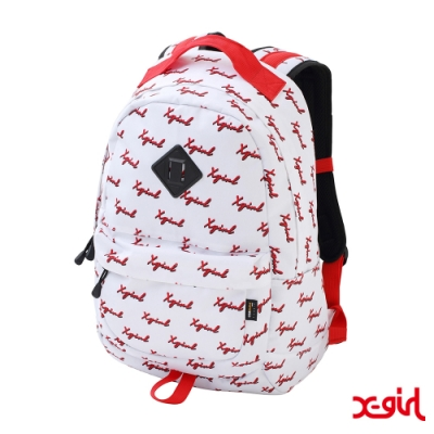 X-girl CHEWY LOGO BACKPACK後背包-白