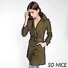 SO NICE率性雙排釦風衣外套