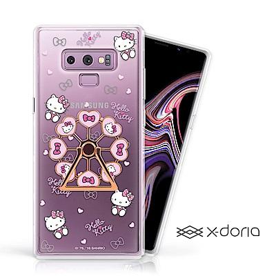 Hello Kitty Samsung Note 9 摩天輪旋轉指環背蓋 - 甜心樂園