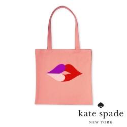 KATE SPADE 唇唇欲動帆布袋 Heart Lips