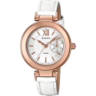 CASIO SHEEN 漣漪戀戀時尚腕錶-SHE-3051LTD-7AUDR-33mm