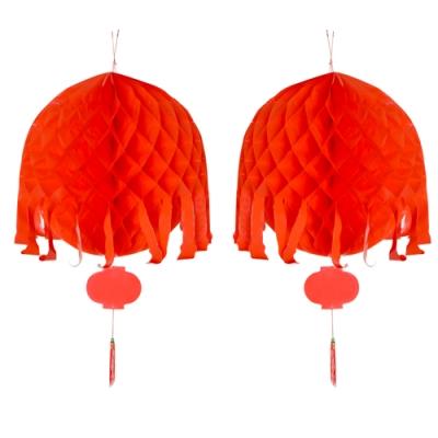 生活king 2尺紅色彩球(一對)