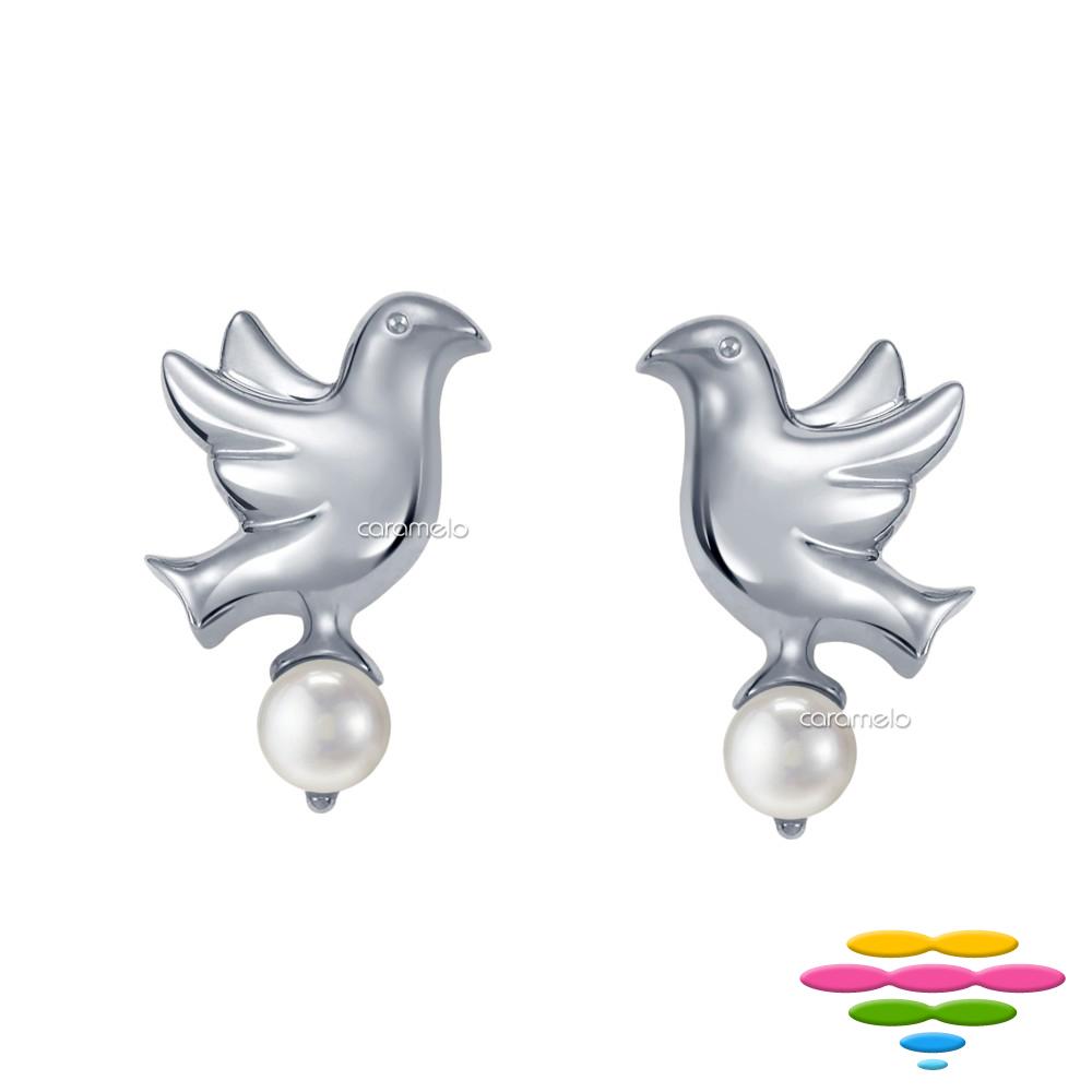 彩糖鑽工坊 日本Akoya海水珍珠耳環 (2選1) 青鳥 系列