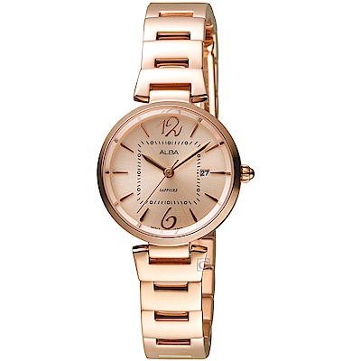 ALBA雅柏趣味幾何時尚腕錶(AH7R22X1 VJ22-X281K)