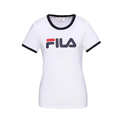 FILA 女款短袖圓領T恤-白色 5TET-1510-WT