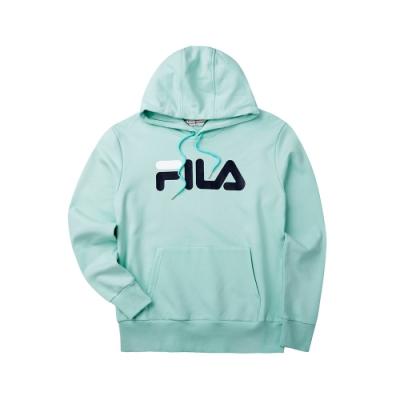 FILA #LINEA ITALIA 長袖連帽T恤-薄荷綠1TET-5410-LN