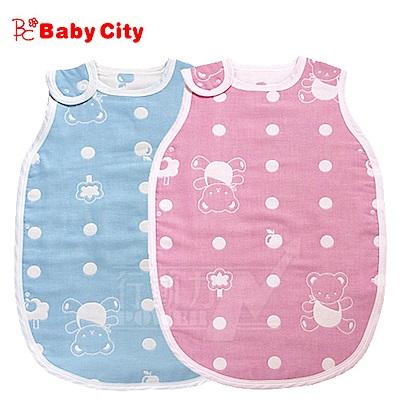娃娃城BabyCity-六層紗背心式防踢睡袍(藍粉雙色)