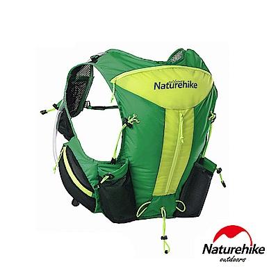 Naturehike 12L輕量化背心式越野跑步後背包 水袋包 綠色