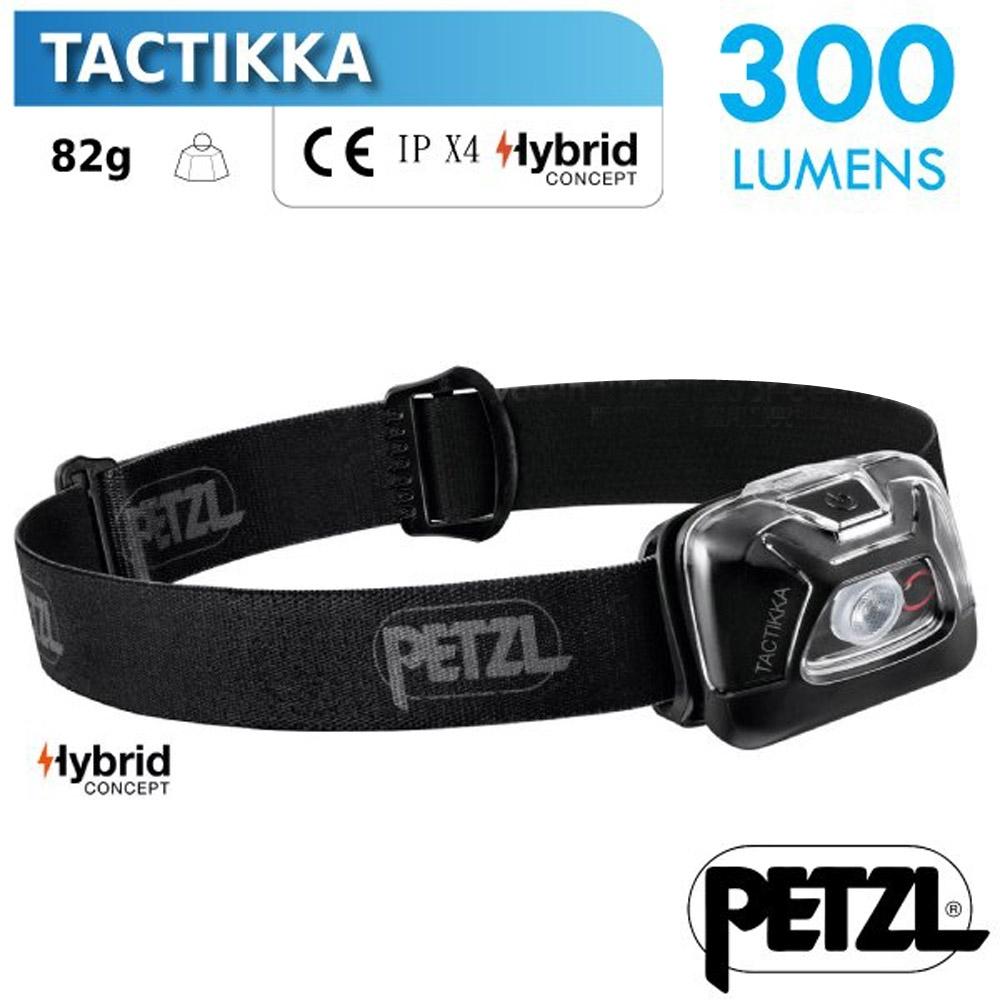法國 Petzl 新款 TACTIKKA 超輕量標準頭燈(300流明)_黑